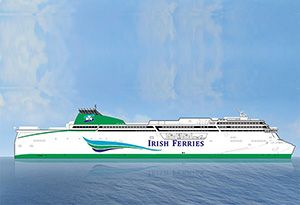 Largest RoPax (or RoRo) Ferry in the World Ordered for Dublin